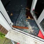 front door smashed in